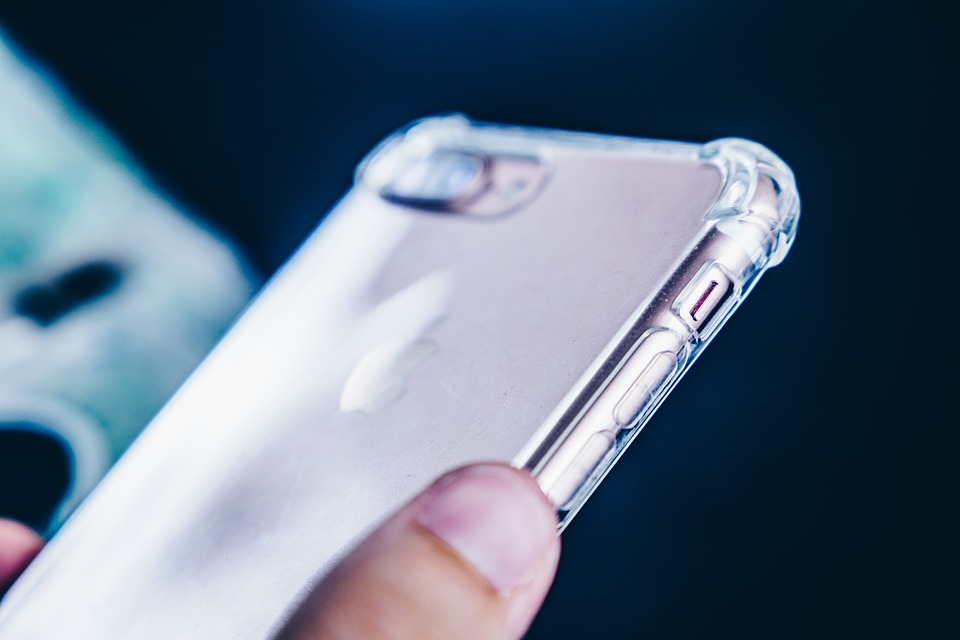 Transparent cover for iPhone